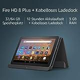 """Fire HD 8 Plus-Tablet, HD-Display, 32 GB, Mit Werbung, unser bestes 8-Zoll-Tablet für Unterhaltung unterwegs + Kabelloses Ladedock von Angreat, """"Made for Amazon"""""""