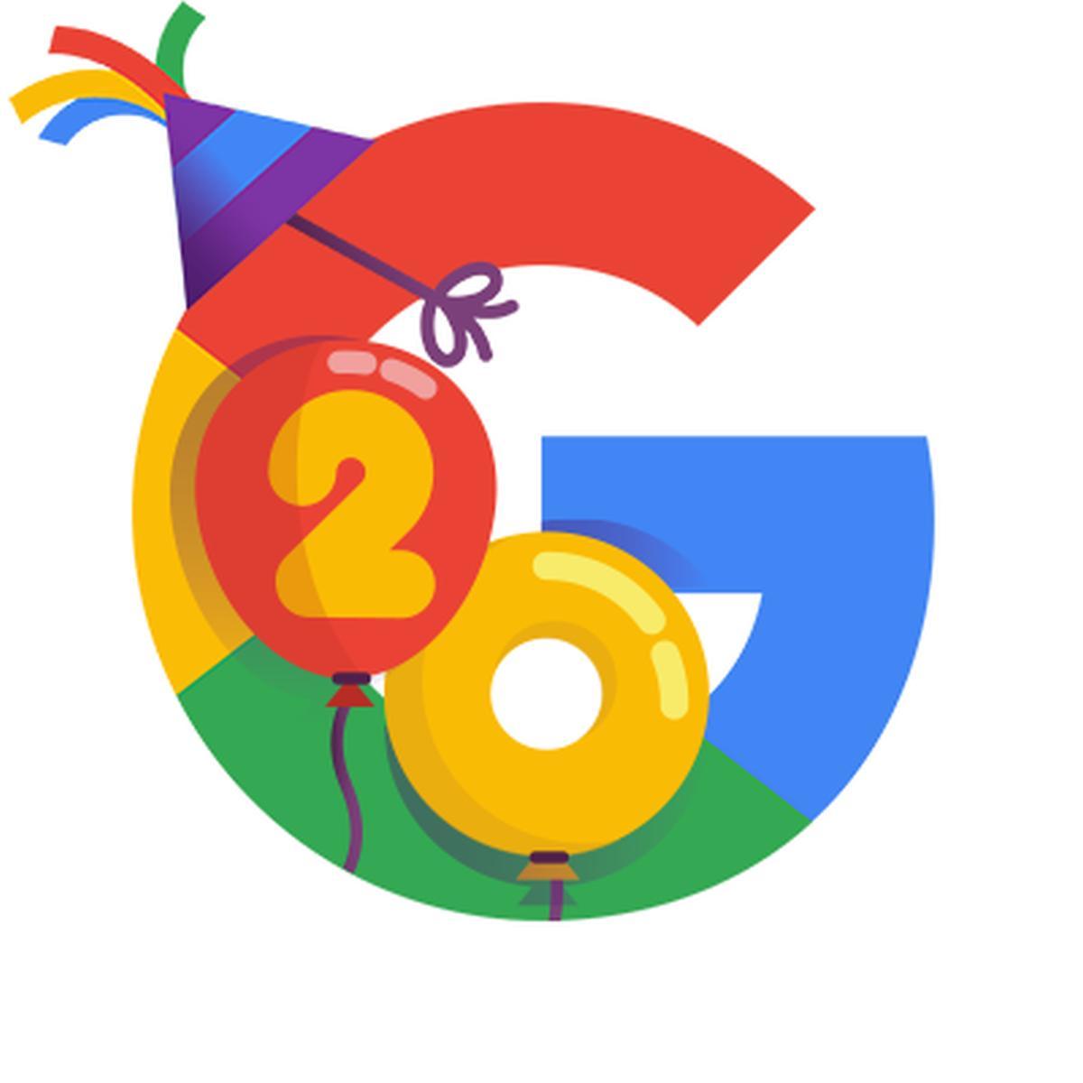 20 jahre google logo