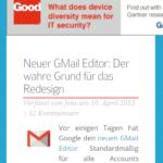 Chrome 27 auf Android Toolbar ausgeblendet