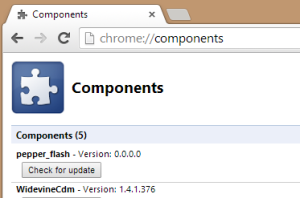Chrome Components