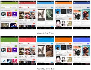 Vergleich vom Play Store