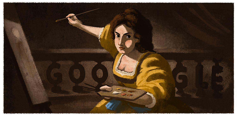 Artemisia Gentileschi Google Doodle 427 Geburtstag