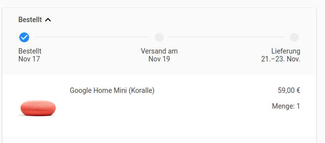 google verschickt nun gutscheine f r home mini in deutschland gwb. Black Bedroom Furniture Sets. Home Design Ideas