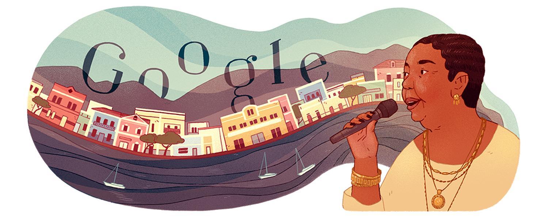 Cesária Évora doodle 78. geburtstag