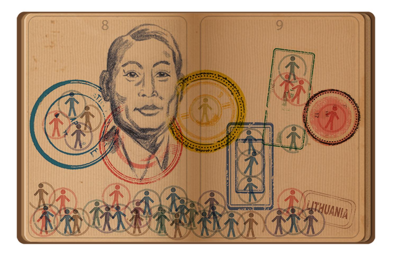 Chiune Sugihara doodle