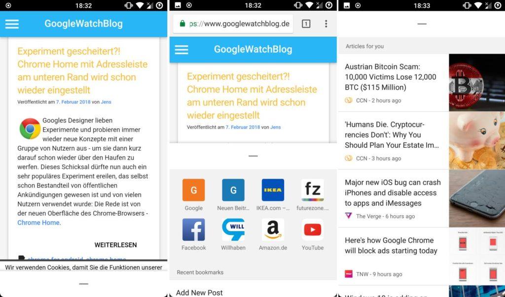 Chrome Duplex Screenshots