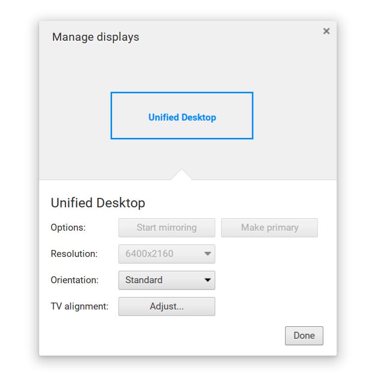 Chrome OS Unified Desktop