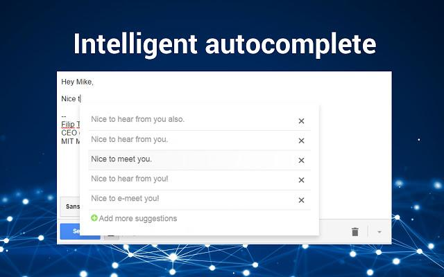 Easy Email gmail autocomplete