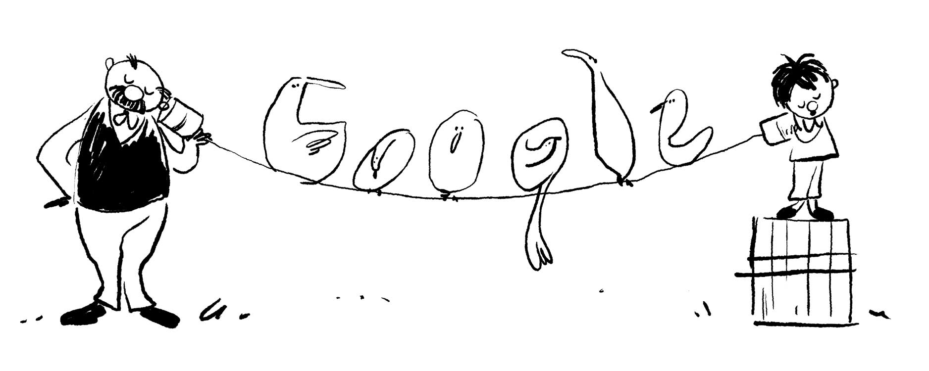 Erich Ohser Doodle Entwurf 1