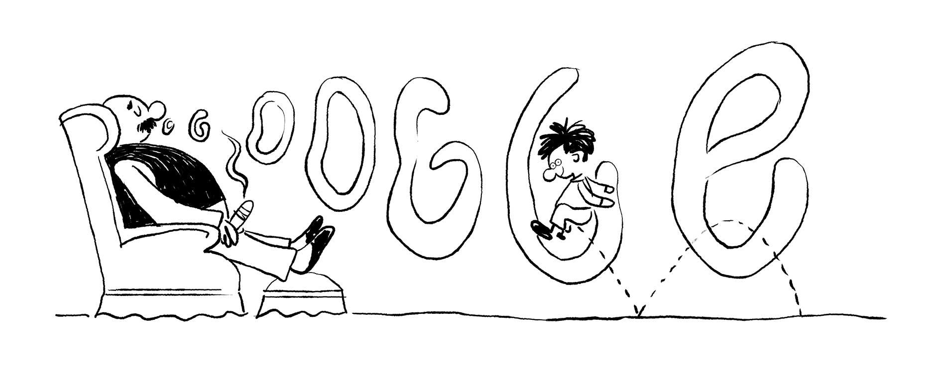 Erich Ohser Doodle Entwurf 3