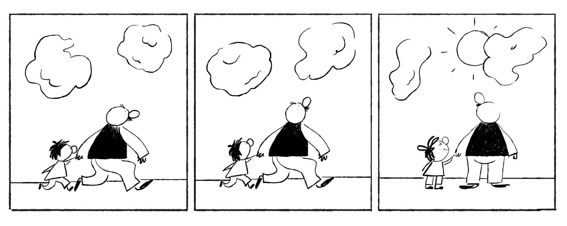 Erich Ohser Doodle Entwurf 4