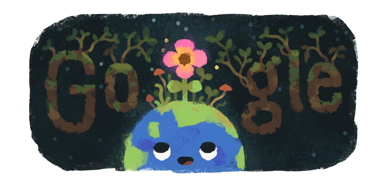 Frühlingsanfang 2019 Google Doodle