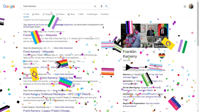 Frank Kameny Pride Konfetti