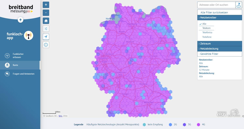 Funkloch-Karte