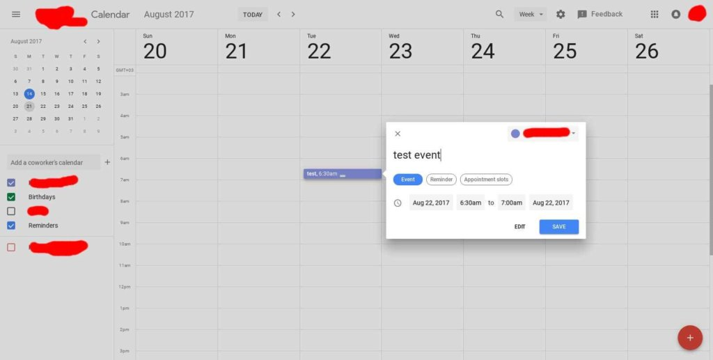 Google Calendar Redesign