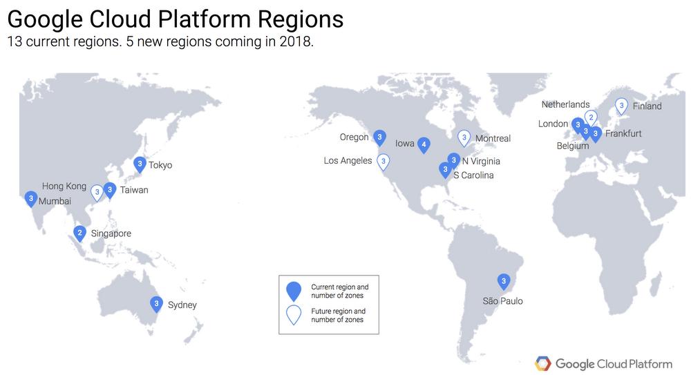 Google Cloud Regionen