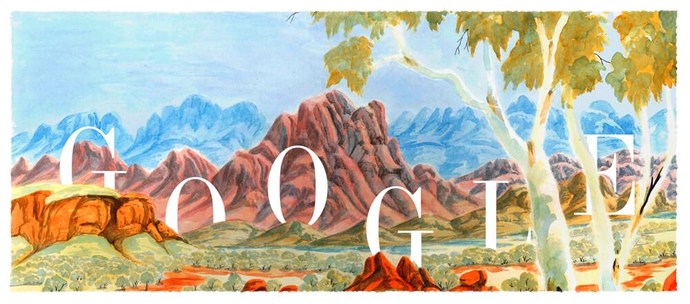 Google Doodle 115. Geburtstag von Albert (Elea) Namatjira