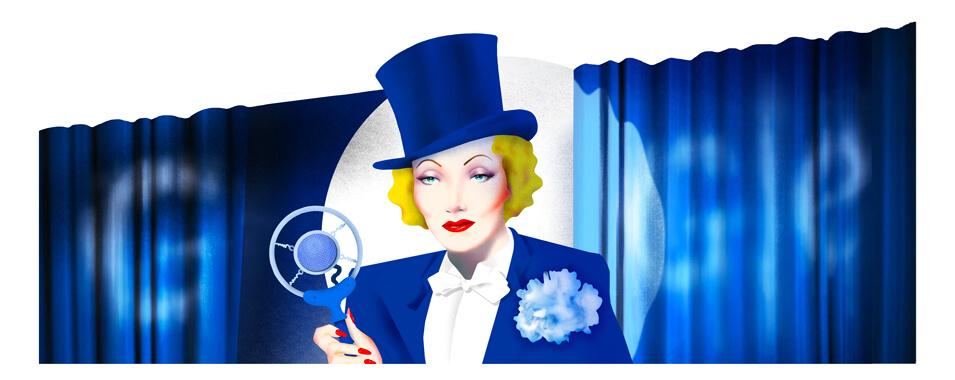 Google Doodle 116. Geburtstag von Marlene Dietrich