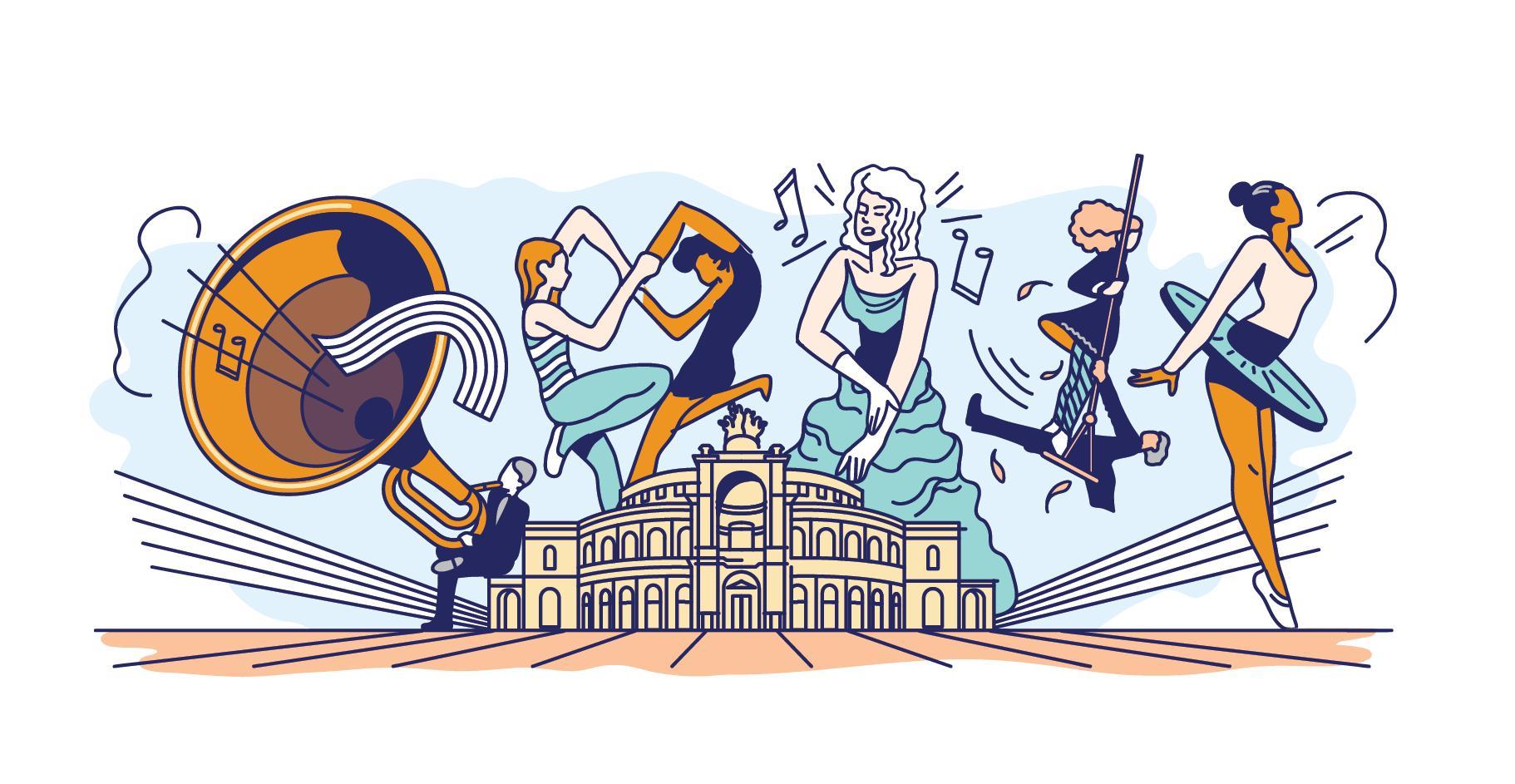 Google Doodle 177 Jahre Semperoper Entwurf