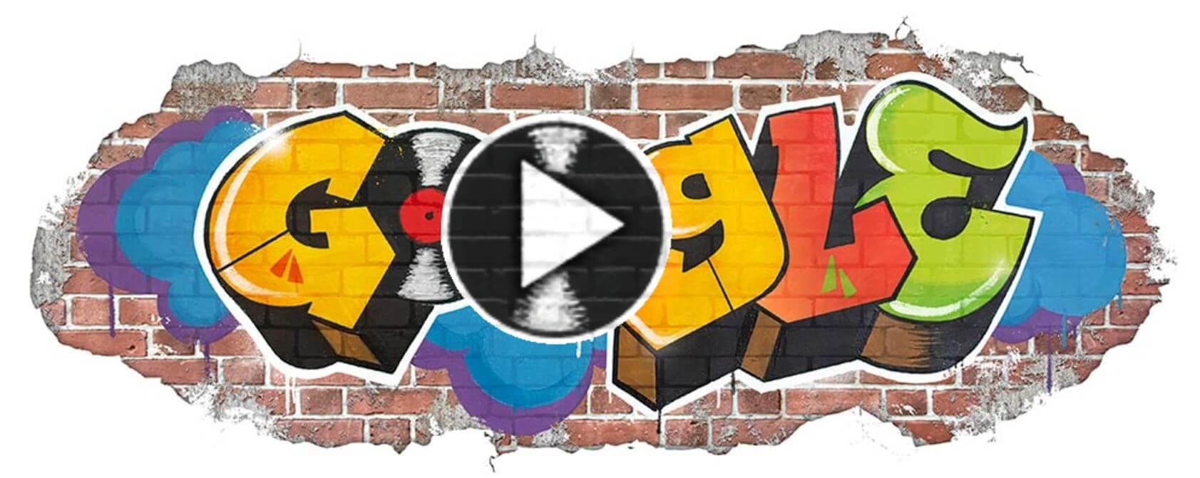 Google-Doodle 44 Jahre Hip Hop