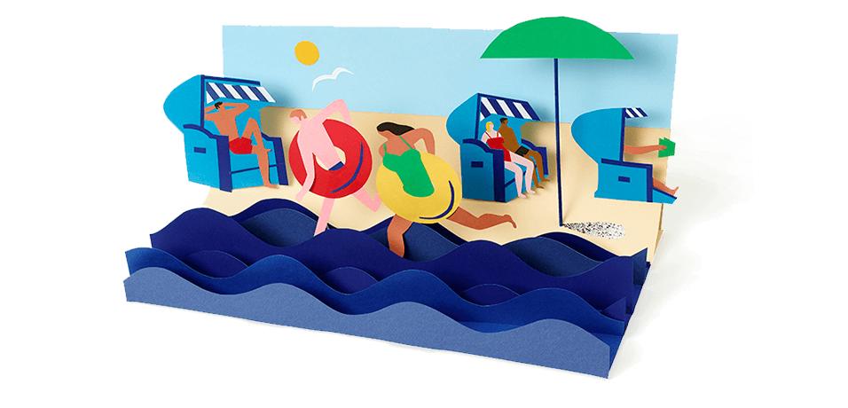 Google-Doodle Der Strandkorb 172. Geburtstag von Wilhelm Bartelman