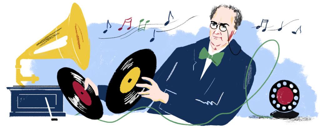 Google Doodle Emil Berliner 167 Geburtstag