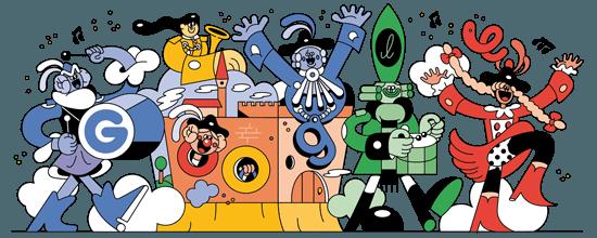Google-Doodle Fasching 2018 Rosenmontag