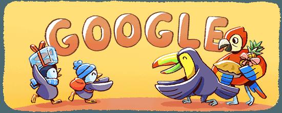 Google-Doodle Fröhliche Feiertage