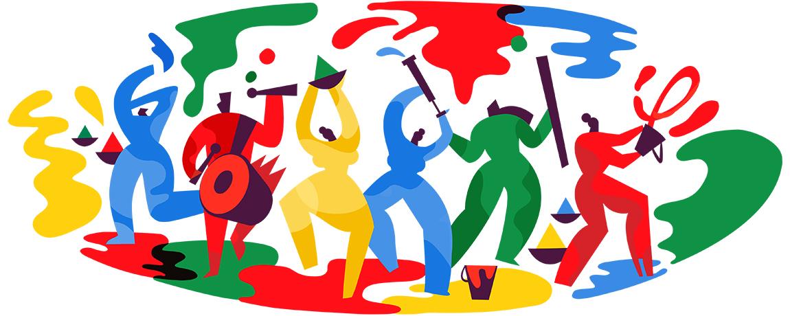 Google-Doodle Holi-Fest 2018