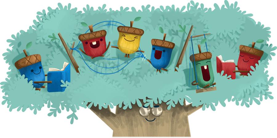 Google Doodle Kindertag 2017