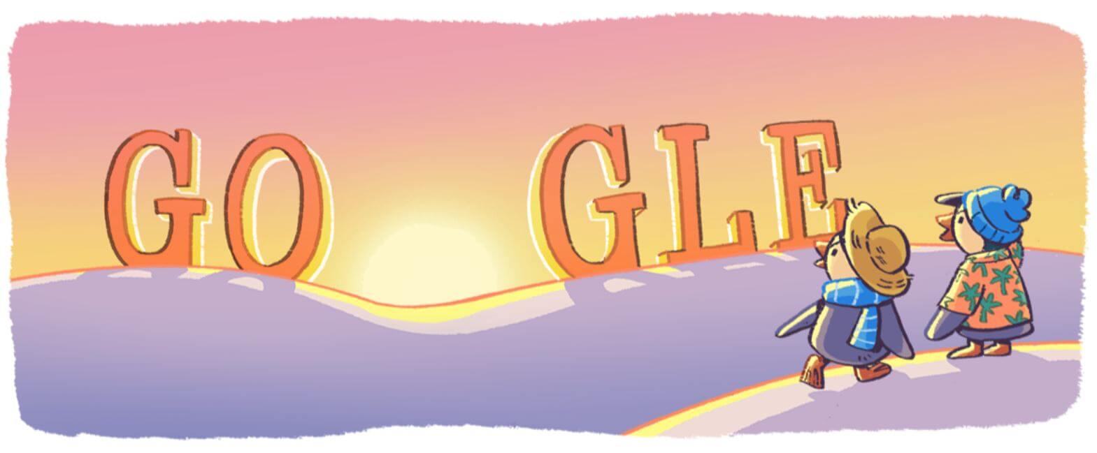 Google Doodle Neujahr