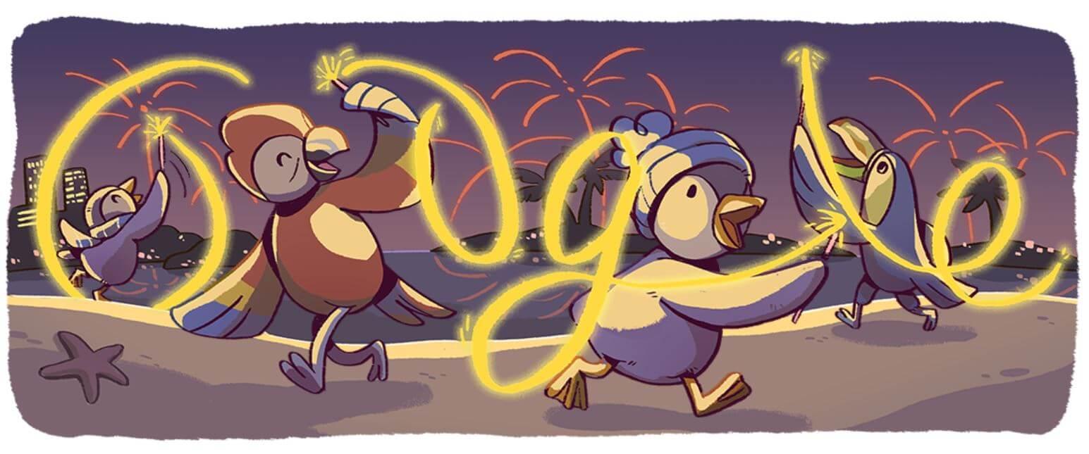 Google Doodle Neujahr Serie 4