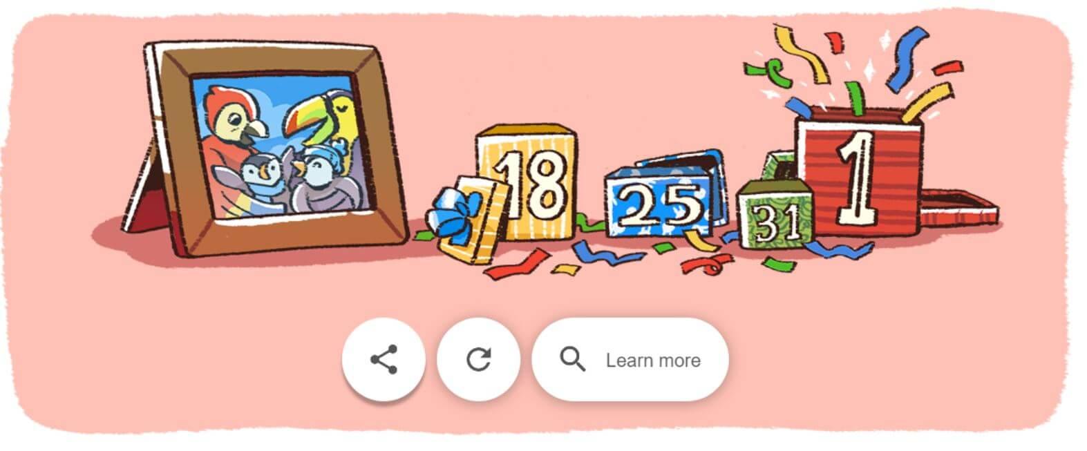 Google Doodle Neujahr Serie 6