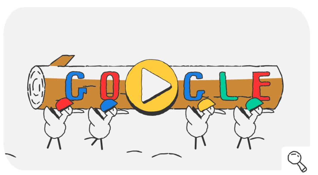 Google-Doodle Olympische Winterspiele 2018 Snow Games Tag 15 Doodle