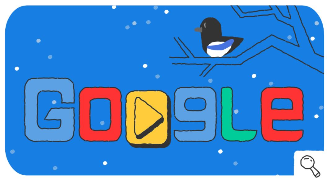 Google-Doodle Olympische Winterspiele 2018 Snow Games Tag 17 Doodle