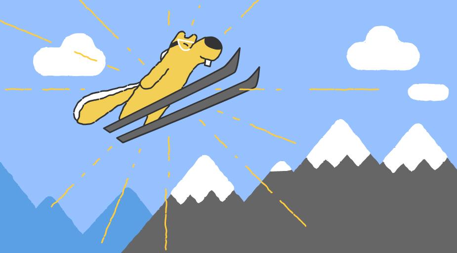 Google-Doodle Olympische Winterspiele 2018 Snow Games