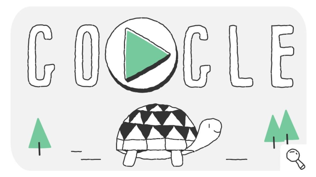 Google-Doodle Olympische Winterspiele Snow Games Tag 2