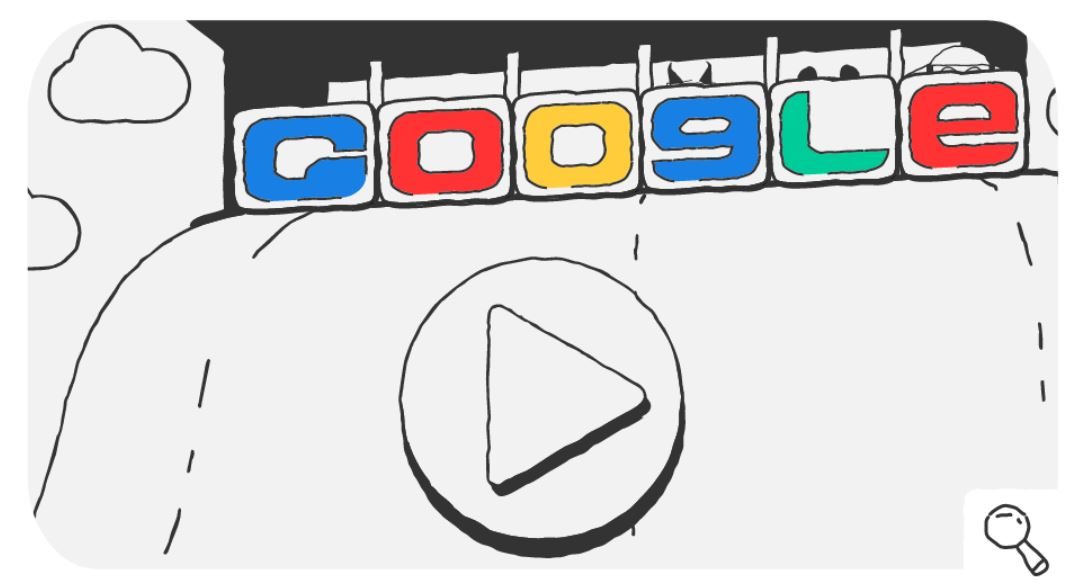 Google-Doodle Olympische Winterspiele Snow Games Tag 4 Doodle