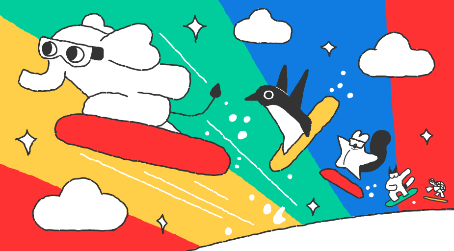 Google-Doodle Olympische Winterspiele Snow Games Tag 4