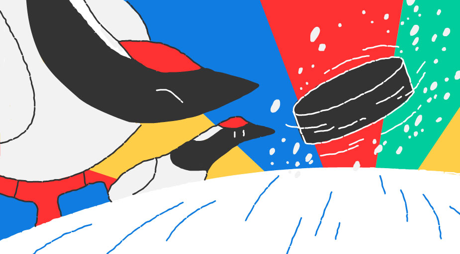 Google-Doodle Olympische Winterspiele Snow Games Tag 9