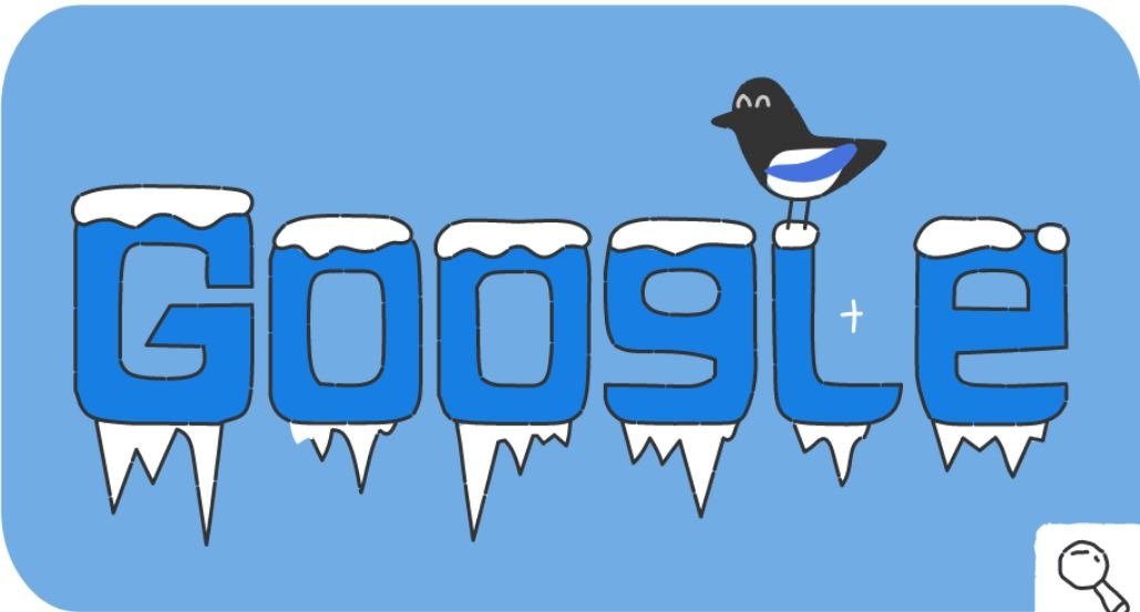 Google-Doodle Olympische Winterspiele Snow Games