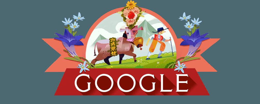 Google Doodle Schweizer Nationalfeiertag 1 August