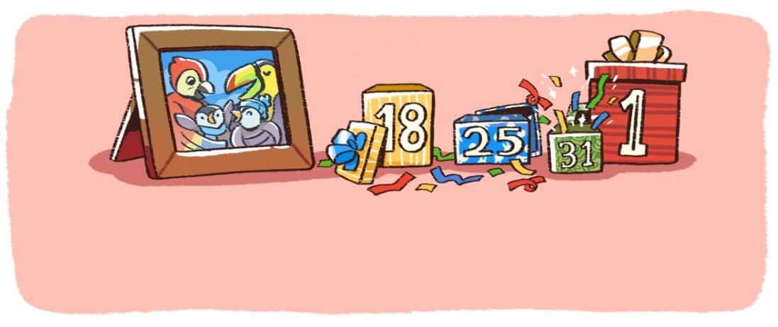 Google-Doodle Silvester 2017 Serie 5
