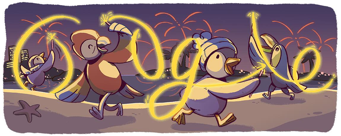 Google-Doodle Silvester 2017
