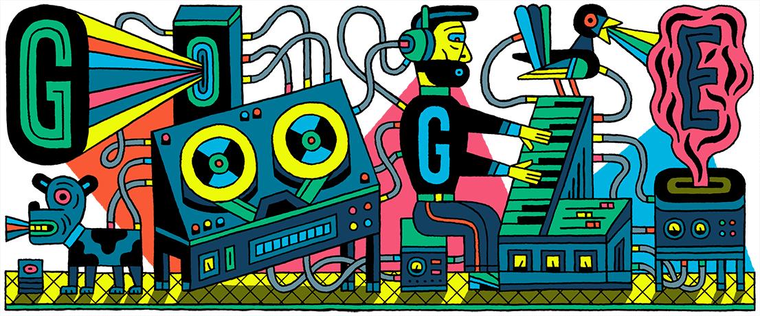 Google-Doodle Studio für elektronische Musik
