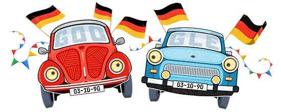 Google Doodle Tag der Deutschen Einheit