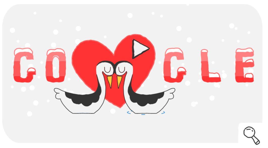 Google-Doodle Valentinstag