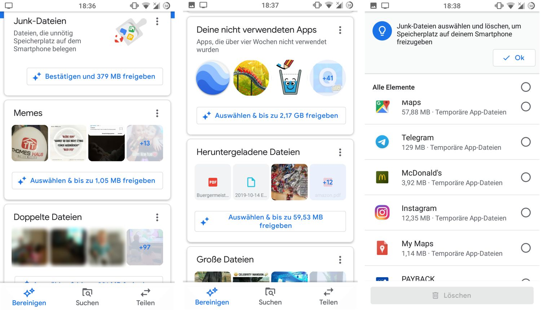 Google Files Daten löschen