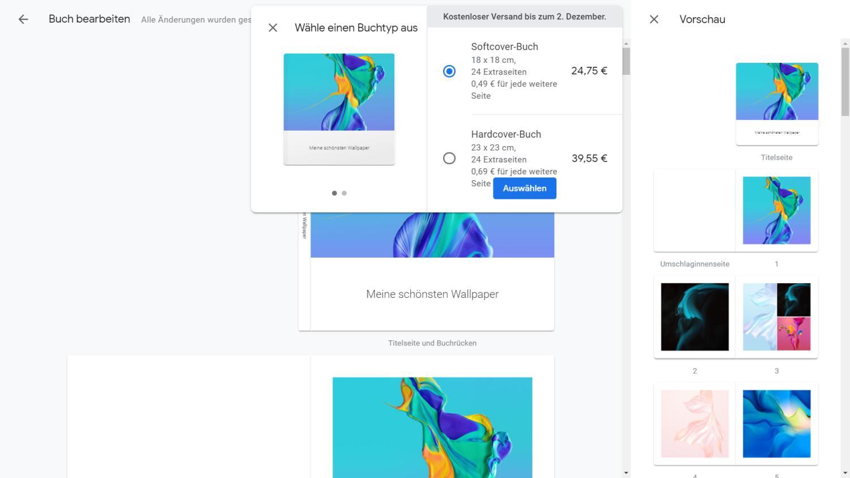 Google Fotos Fotobuch bestellen