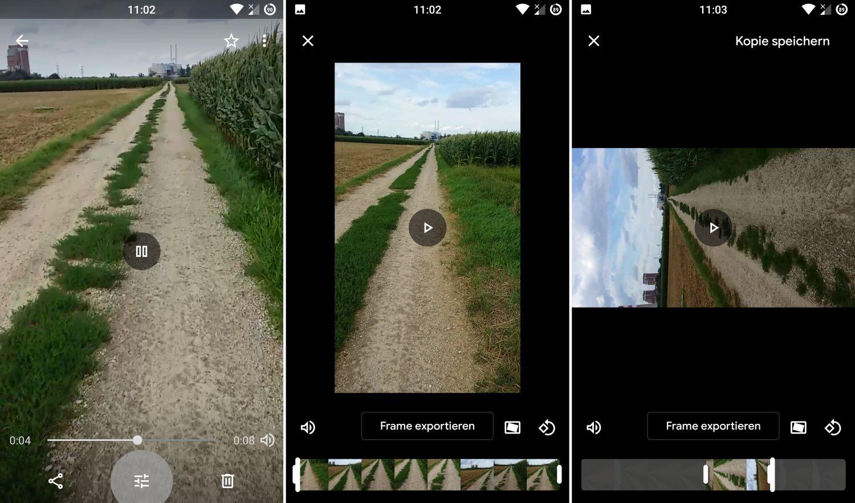 Google Fotos Video bearbeiten
